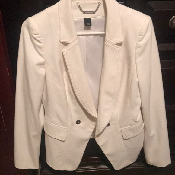 White House Black Market Jackets & Blazers - White jacket blazer sports coat